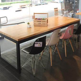 Uni (flushed) Dining Table w/ Butcher Top – Customisable
